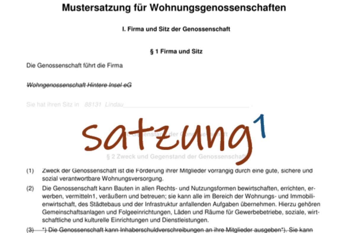 Satzungsworkshop 1